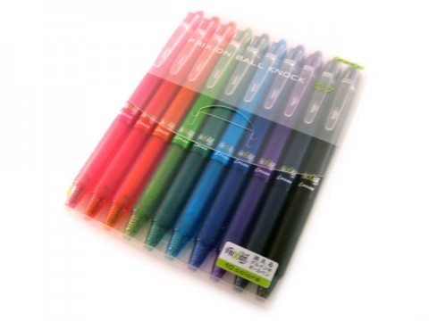 Pilot Frixion Ball Knock 0.7mm - 10-Color Set