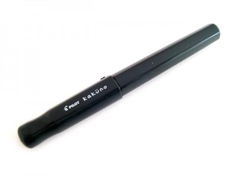 Pilot Kakuno Fountain Pen - Fine Nib - Gray Cap