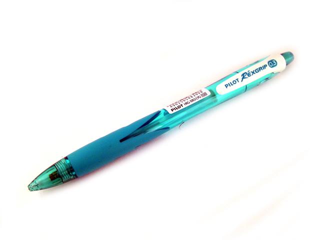 Pilot Rexgrip Mechanical Pencil 0 3mm Clear Peacock Green