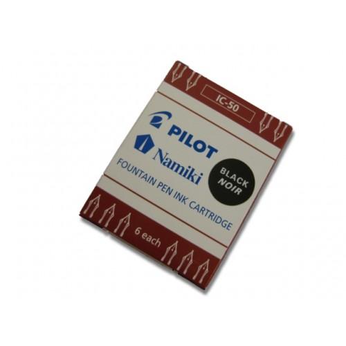 Pilot Fountain Pen Ink Cartridge (6 refills) - Black