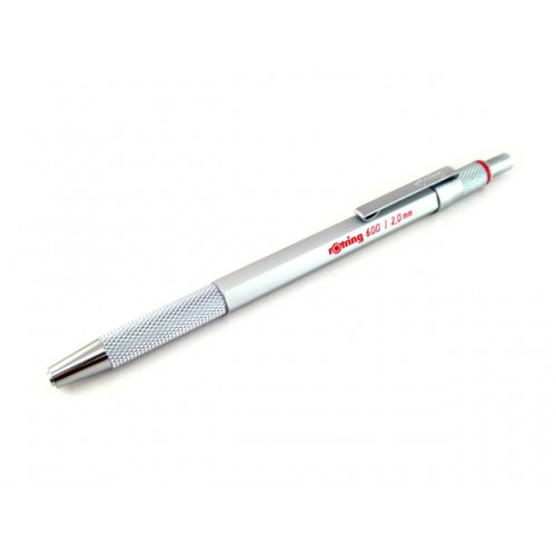 Rotring 600 Lead Holder Drop System - Silver Body - 2mm