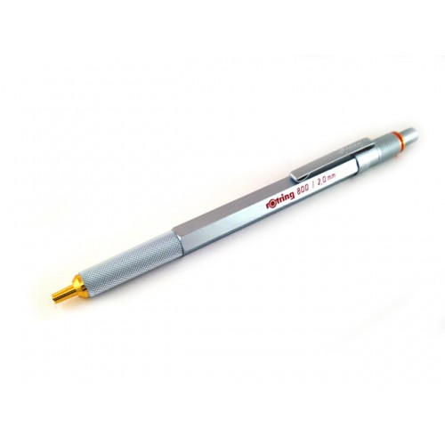 Rotring 800 Lead Holder Clutch Knock System - Silver Body - 2mm