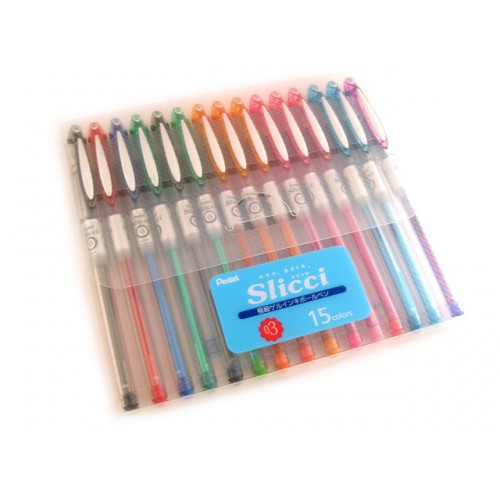 Pentel Slicci 0.3mm - 15 Color Set