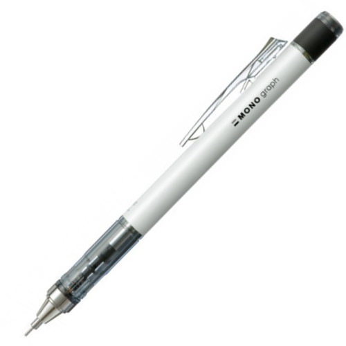 Tombow Mono Graph Mechanical Pencil - 0.5mm - White Body