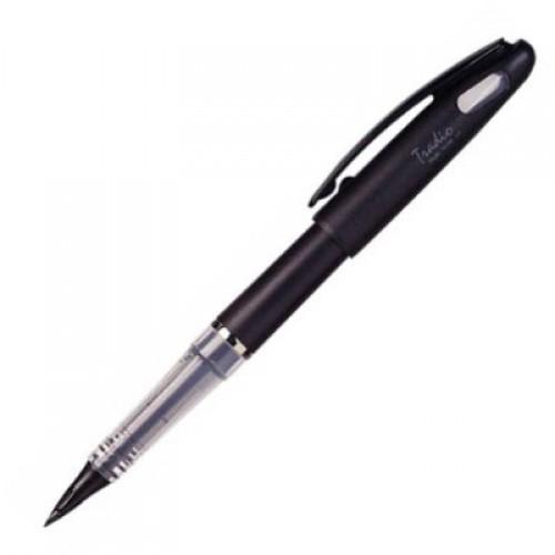 Pentel Tradio Stylo Fountain Pen - Black Body - Black Ink