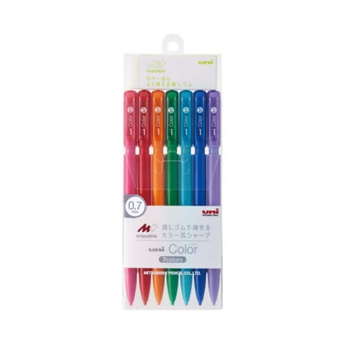 Uni Color Erasable Mechanical Pencil - 0.7 mm - Set