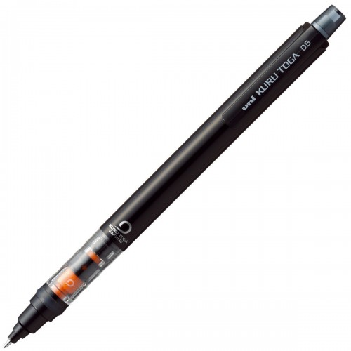 Uni Kuru Toga Pipe Slide Mechanical Pencil - Black Body 0.5mm