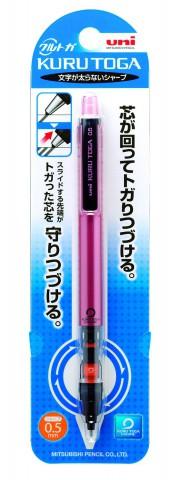 Uni Kuru Toga Pipe Slide Mechanical Pencil - Pink Body 0.5mm