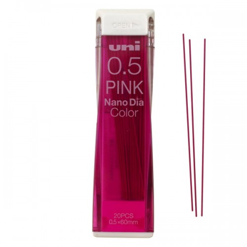 Uni NanoDia Color Lead - 0.5 mm - Pink