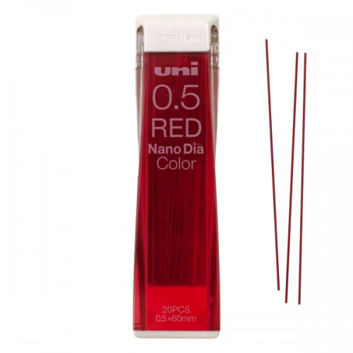 Uni NanoDia Color Lead - 0.5 mm - Red