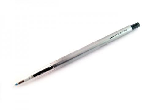 Uni Style Fit Single Color Gel Pen - 0.38mm - Black