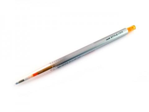 Uni Style Fit Single Color Gel Pen - 0.38mm - Golden Yellow