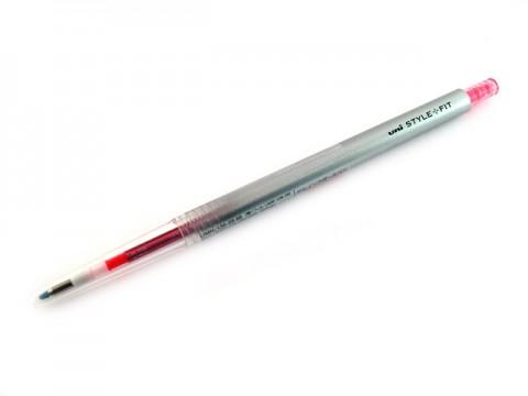 Uni Style Fit Single Color Gel Pen - 0.38mm - Rose Pink