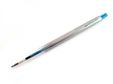 Uni Style Fit Single Color Gel Pen - 0.38mm - Sky Blue