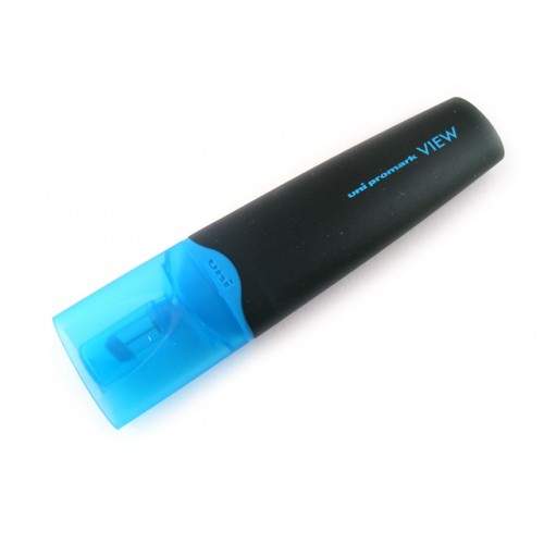 Uni Promark View Highlighter - Fluorescent Blue