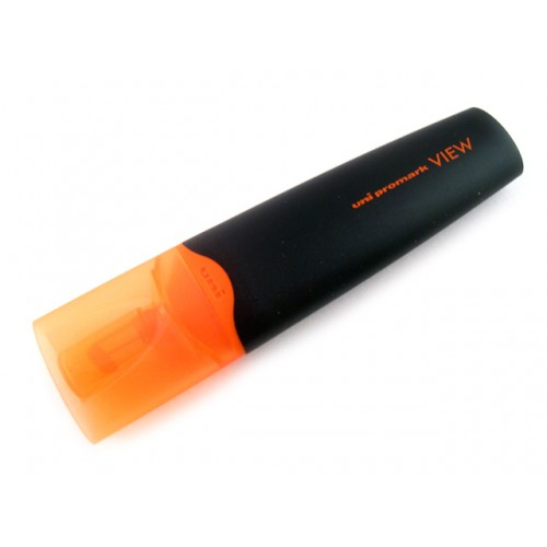Uni Promark View Highlighter - Fluorescent Orange