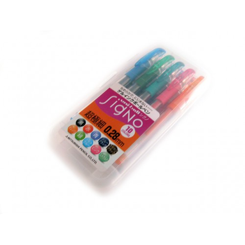 Uniball Signo DX 0.28mm  -  10-Color Set