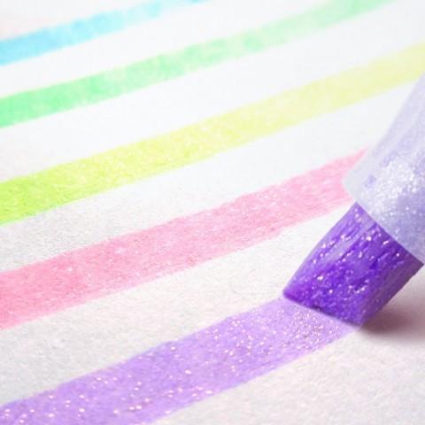 Zebra Kirarich Glitter Highlighter - 5 Color Set