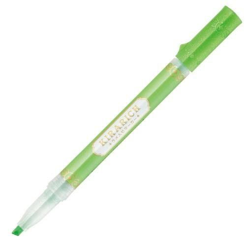 Zebra Kirarich Glitter Highlighter - Green