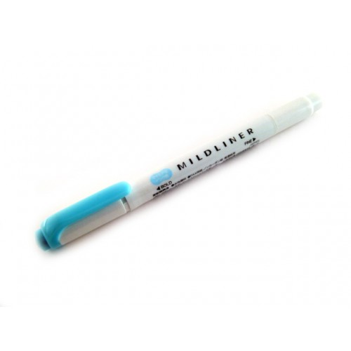 Zebra Mildliner Soft Color Twin Head Highlighter - Mild Blue