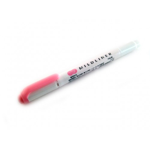 Zebra Mildliner Soft Color Twin Head Highlighter - Mild Pink