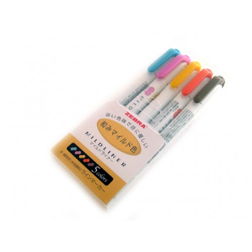 Zebra Mildliner Soft Color Twin Head Highlighter - Deep Color Set