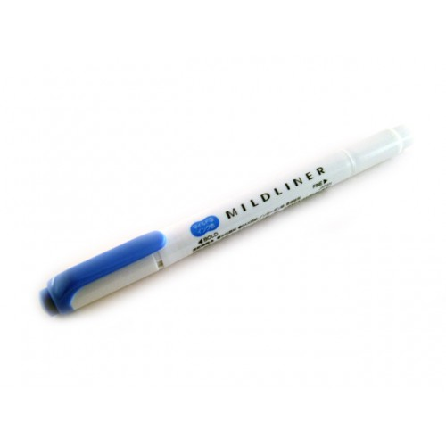Zebra Mildliner Soft Color Twin Head Highlighter - Mild Dark Blue