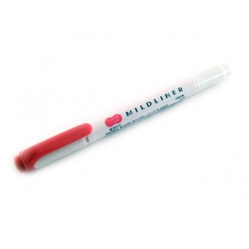 Zebra Mildliner Soft Color Twin Head Highlighter - Mild Red