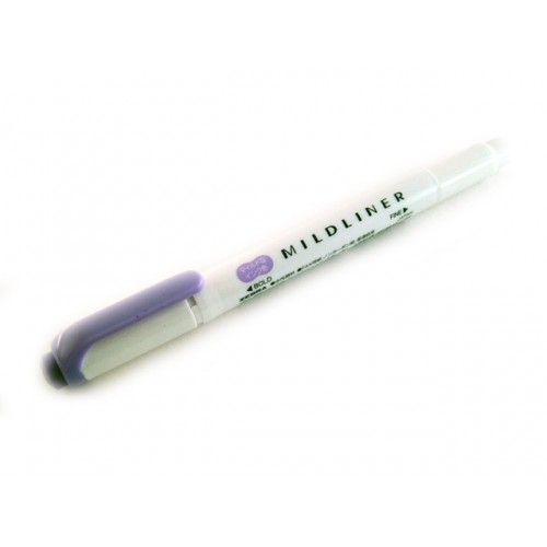 Zebra Mildliner Soft Color Twin Head Highlighter - Mild Violet