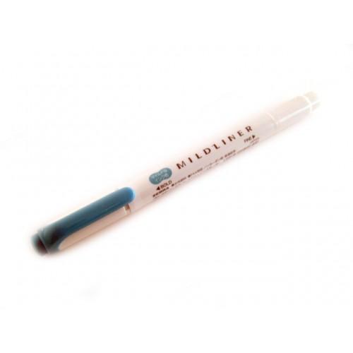 Zebra Mildliner Soft Color Twin Head Highlighter - Mild Smoke Blue