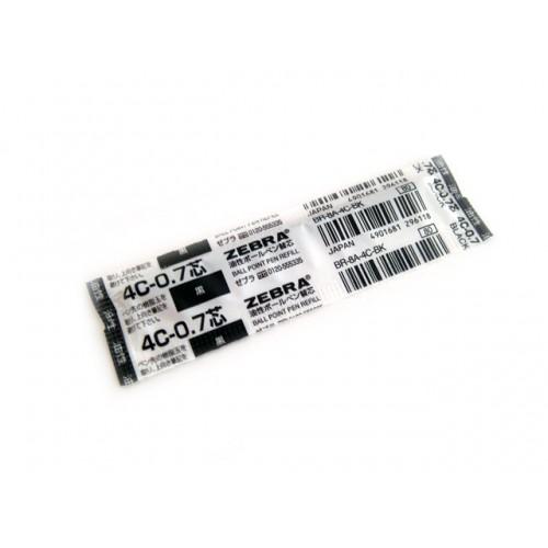 Zebra 4C 0.7mm Ballpoint Pen Refill - Black